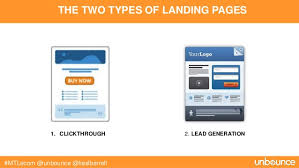 example of landing pages
